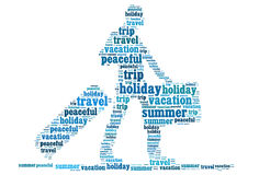 Holiday travel info-text graphics Stock Photo