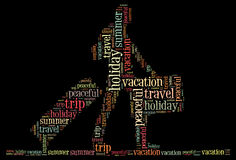 Holiday travel info-text graphics Royalty Free Stock Photo