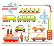 Holiday Travel - vector illustration Stock Image