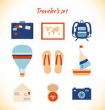 Holiday traveler pattern  Light adventure background Stock Photography