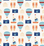 Holiday traveler pattern  Seamless  background Royalty Free Stock Photos