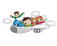 Holiday Travelling with Airplane Stock Photography