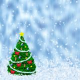 Holiday tree. On the snow Royalty Free Stock Photos