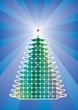 Holiday tree. Vector holiday tree on retro background royalty free illustration