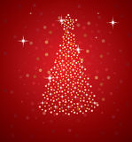 Holiday tree. Vector illustration of abstract holiday tree vector illustration