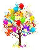 Holiday tree royalty free illustration