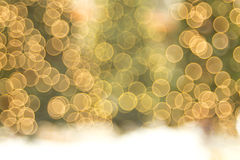 Holiday Tree Bokeh Background With Snow stock photos