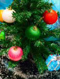Holiday tree with decoration Royalty Free Stock Image
