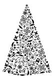 Holiday tree illustration. Royalty Free Stock Photo