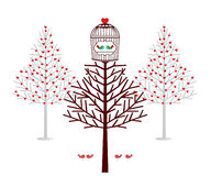 Holiday treehouse for birds Royalty Free Stock Images