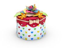 Holiday triangle Cardboard Cake or pie Box, Packaging For Food, Gift Or Other Products 3d Illustration vector illustration
