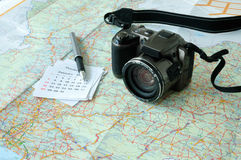 Holiday trip planning Royalty Free Stock Photography