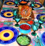 Holiday turkey. Holiday turkey dinner prepared for thanksgiving and xmas Royalty Free Stock Photo