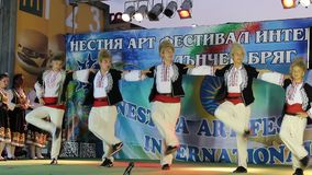 Holiday two. Bulgarian holiday in suny beach stock video footage