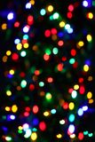 Holiday unfocused color lights Stock Photos