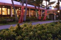 Holiday vacation resort at night Royalty Free Stock Photos