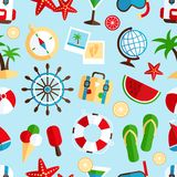 Holiday vacation seamless pattern Royalty Free Stock Images