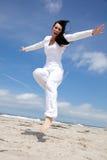 Holiday vacations carefree woman Stock Photos