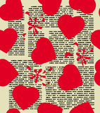 Holiday valentine vector illustration. Holiday valentine seamless pattern  illustration Royalty Free Stock Photography