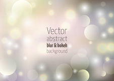Holiday vector background with colorful bokeh and defocused ligh. Ts Royalty Free Stock Photography