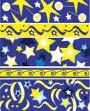 Holiday vector border. Holiday star, border illustration stock illustration