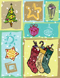 Holiday vector collage Stock Image