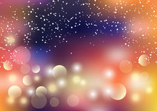 Holiday vector colorful background with colorful bokeh, light leaks and defocused lights Stock Photos