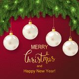 Holiday Vector Lettering background. Merry Christmas concept stock image