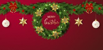 Holiday Vector Lettering background. Merry Christmas concept royalty free stock photos