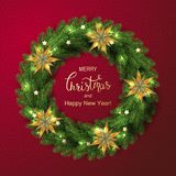 Holiday Vector Lettering background. Merry Christmas concept stock photos