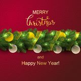 Holiday Vector Lettering background. Merry Christmas concept stock images