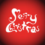 Holiday Vector Lettering Royalty Free Stock Images