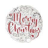 Holiday Vector Lettering, Merry Christmas Stock Photos