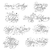 Holiday Vector Text royalty free stock photos