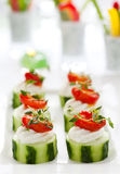 Holiday vegetable appetizers Royalty Free Stock Photos