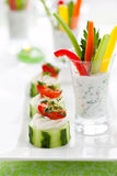 Holiday vegetable appetizers Royalty Free Stock Photo