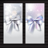 Holiday vertical banner with bow Royalty Free Stock Photography