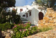 Holiday villa. A holiday villa in Sardinia - Italy Stock Photos