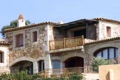 Holiday villa. A holiday villa - Sardinia - Italy Royalty Free Stock Images