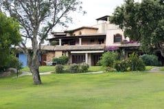 Holiday villa. A holiday villa - Sardinia - Italy Royalty Free Stock Photos