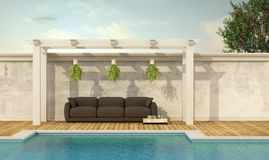 Holiday villa with pool Stock Photography