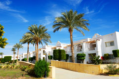 The holiday villas at luxury hotel. Sharm el Sheikh, Egypt Royalty Free Stock Images