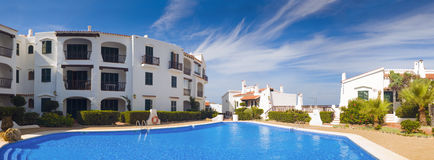 Holiday villas and pool Royalty Free Stock Image