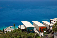 Holiday villas at resort Stock Images