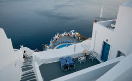 Holiday villas in Santorini Island Stock Photography