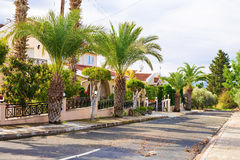 Holiday villas by the sea, Coral bay, Paphos, Cyprus royalty free stock images