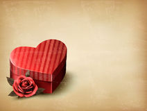 Holiday vintage Valentine`s day background. Royalty Free Stock Images