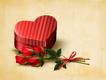 Holiday vintage Valentine`s day background. Royalty Free Stock Photos