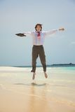 Holiday is a virtue for businessman Royalty Free Stock Photos