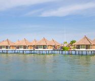 Holiday water chalets Royalty Free Stock Photography